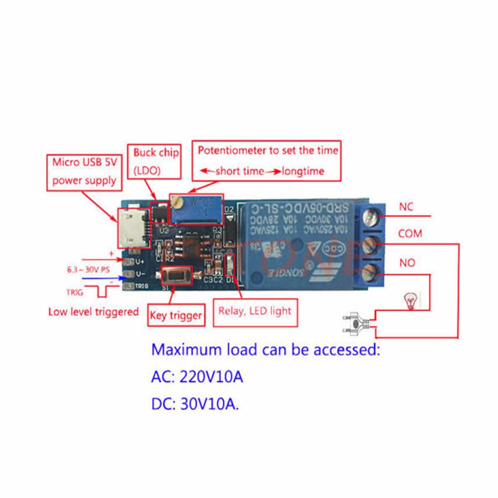 5V -30V Zeitrelais Steuermodul: Amazon.de: Elektronik